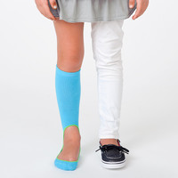 Girl's No Show Sock Pair - Turquoise