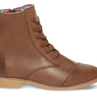 Brown Leather Women's Alpa Boots