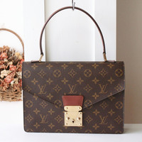 Louis Vuitton Handbag Concorde Vintage Handbag Monogram Brown Authentic Bag