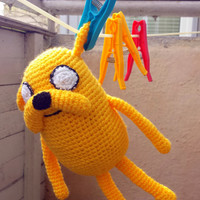 Time Adventure Dog, Yellow Dog, Crochet and Stuffed Toy, Handmade Movie Hero