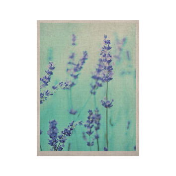 "Monika Strigel ""Mint Lavender"" Teal Purple KESS Naturals Canvas (Frame not Included)"