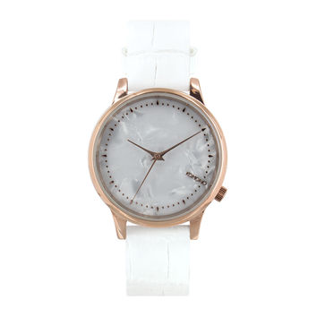Komono Estelle Monte Carlo Watch White Croc