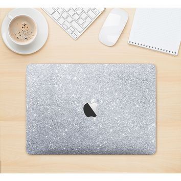 "The Silver Sparkly Glitter Ultra Metallic Skin Kit for the 12"" Apple MacBook"