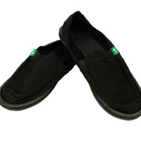 Sanuk Shuffle Black Slip-On Shoes