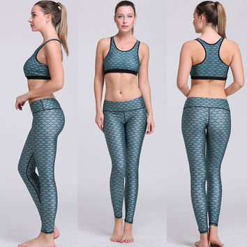Quick Dry Print Yoga Set Tank Top = 5840024897