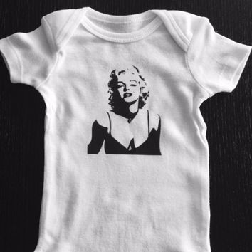 Marilyn Monroe Inspired Baby Onesuit or Toddler Tee
