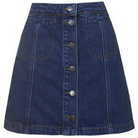 PETITE Denim Pocket Skirt - Mid Stone