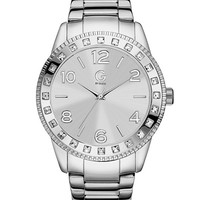 Silver-Tone Crystal Watch | GbyGuess.com