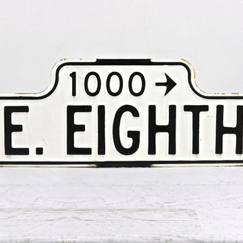 Street Sign, Porcelain Street Sign, Vintage Street Sign, Industrial Decor