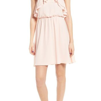Lush Ruffle Blouson Dress | Nordstrom