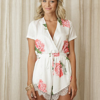 Paiton Playsuit - White - $70.00 : Teal & Tala, Online Clothing Store