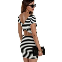 Black Make The Cut Stripe Tunic