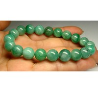 High Quality Natural Genuine Green Emerald Stretch Bracelet Round beads 9.5mm Emerald Beaded Fit Jewelry