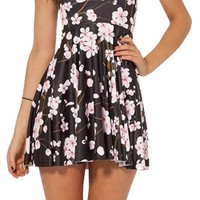 Ninimour- Summer Pleated Knee-length Pattern Skater Dress