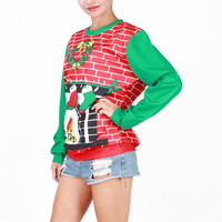 Ugly Christmas Sweater  Hot Deal Winter Costume Cartoons Christmas Tops Santa Custome [9475941444]