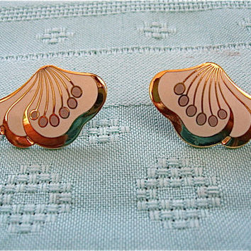 "Vintage ""Le Fleur"" Laurel Burch Earrings"