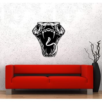 Wall Sticker Snake Head Poison Bite Attack Danger Venom Vinyl Decal Unique Gift (ed535)