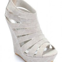 Bamboo Driven-18 Gladiator Open Toe Wedge