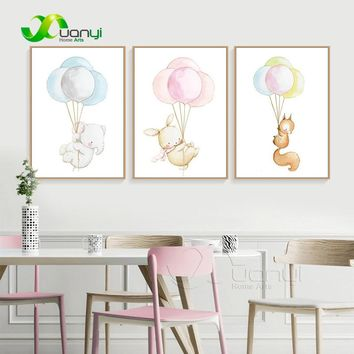 Nordic Wall Paintings Poster And Prints Elephant Canvas Painting Nordic Baby Art Room Animal Picture Decoration Art Unframed
