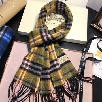 BURBERRY High Quality Stylish Women Men Comfortable Cashmere Tassel Cape Scarf Scarves Shawl Accessories
