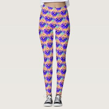 Cute crazy colorful triangles patterns leggings