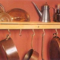 Wall Mount Pot Rack - Sugar Maple & Nickel by J.K. Adams