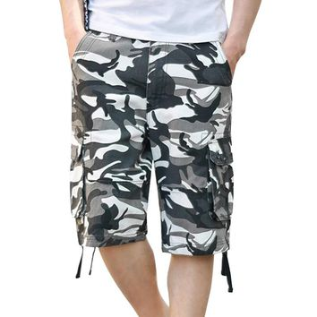 WENYUJH Camouflage Cargo Shorts Mens 2018 Summer Fashion Casual Shorts Male Loose Work Shorts Military Short Pants Plus Size 44
