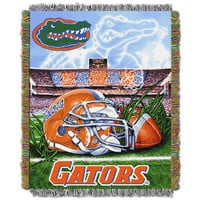 Florida Gators NCAA Woven Tapestry Throw (Home Field Advantage) (48x60)
