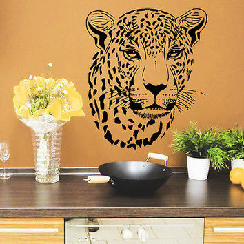 Wall Decals Leopard Wild Cat Vinyl Sticker Decor Bedroom O277