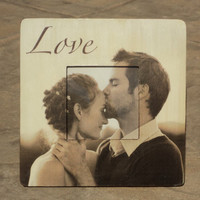 """Personalized Wedding Frame, Custom Engagement Picture Frame, The Original & Unique """"Picture in Picture"""" Photo Frame 8"""" x 8"""""""