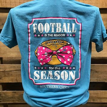 Southern Chics Football is the Reason for the Season Bow Bright T Shirt