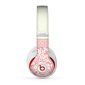 The Pink & Tan Polka Dot Pattern V1 Skin for the Beats by Dre Studio (2013+ Version) Headphones