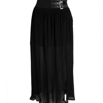STYLE AND GRACE BUCKLED SKIRT