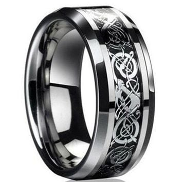 Vintage engagement Dragon steel Ring for Men & women lord Wedding rings