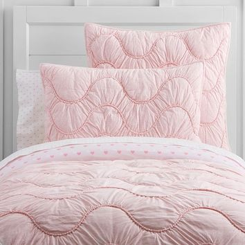 Organic Jersey Scalloped Quilted Bedding