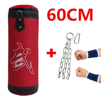 60cm Age 5-16 Years Old Children's Empty Sandbag! Punching bag for boxing Indoor Sports Boxing bag Earthbags bagwork