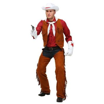 Limited Adult Men's Deluxe West Rodeo Cowboy Halloween Performance Costumes - Beauty Ticks
