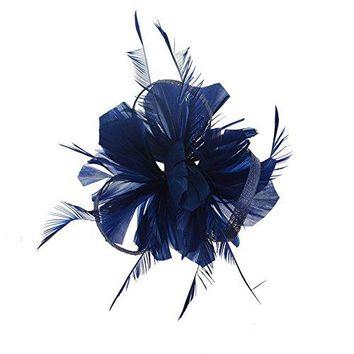 Pop Your Dream Women Feather Hair Clip Hairpin Fascinator Headband Cocktail Headpiece for Tea Party