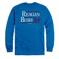 Reagan Bush '84 Long Sleeve Pocket Tee in Deep Water by Rowdy Gentleman