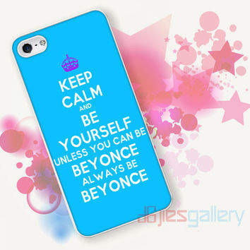 Keep Calm and Be Your Self for iPhone 4/4S, iPhone 5/5S, iPhone 5C, iPhone 6 Case - Samsung S3, Samsung S4, Samsung S5 Case