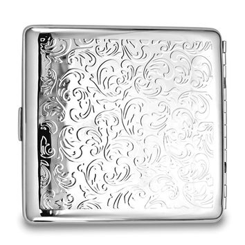 Silver-tone Polished (holds Pack Kings) Cigarette/card Case