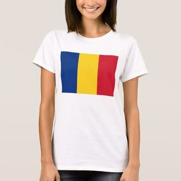 Women T Shirt with Flag of Romania