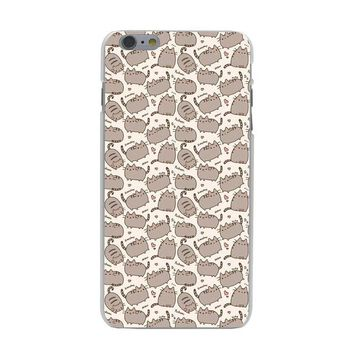 Pusheen Cat Coque Shell Case for iPhone 10 X 8 7 6 6s Plus 5 5S SE 5C 4 4S