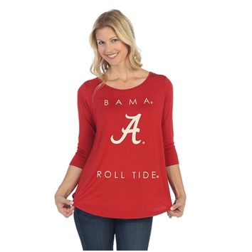 Alabama Crimson Tide Power Logo Print Shirt | Alabama Power Logo 3/4 Sleeve Shirt | BAMA 3/4 Sleeve Shirt