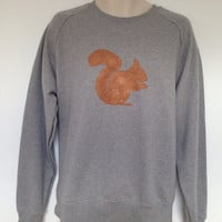 Squirrel Sweatshirt  men's and women's  low by TheLPHProject
