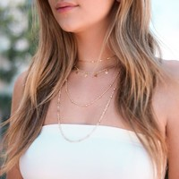 Starlet Layered Choker Necklace in Gold