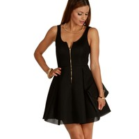 Black Dancing Till Dawn Skater Dress