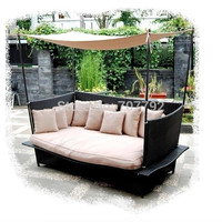 All Weather Outdoor Wicker Garden Chaise daybed