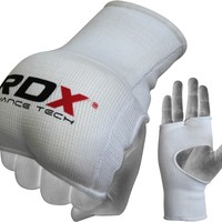 Authentic RDX MMA Boxing Mitts Gloves White
