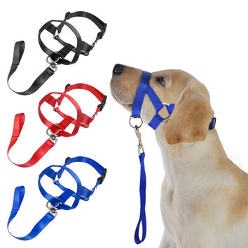 Pet Dog Nylon Halter Training Nose Reigns  M L XL XXL